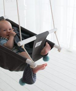 Graue Babyschaukel Oden für Babys und Kinder